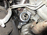 oil filter mount location on a 6.6L Duramax diesel
